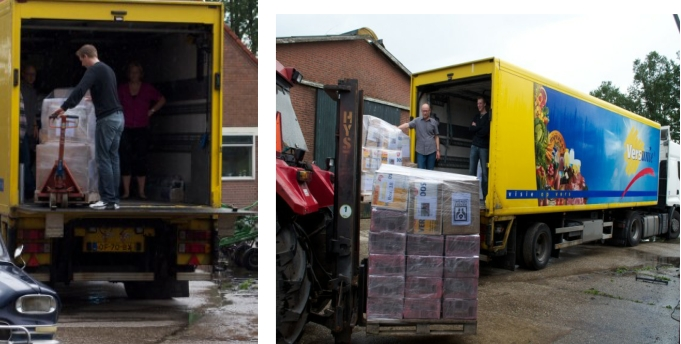Loading equipment in Holland