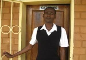 Evans Banda does his Food Production at Bauleni Street Kids