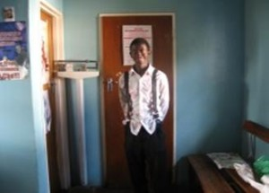 Joe Handeta doing his Grade 11 at Twiget School