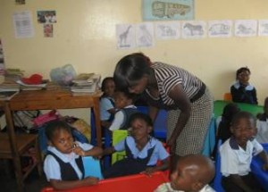 Mainza Chinjila is doing Pre-School Teacher Training during her attachment