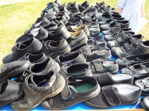 Shoes donated by Pitsford Junior School